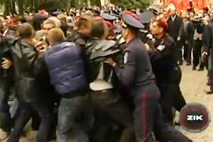 "В Тернополе ""свободовцев"" задержали за драку с милицией"