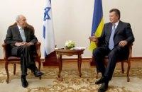 Янукович провел встречу с министром иностранных дел Израиля
