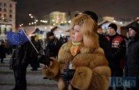 Евромайдан в Киеве продолжается, несмотря на холод