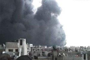 В сирийском Хомсе начался гигантский пожар