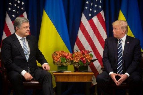 Порошенко и Трамп обсудили расширение сотрудничества в сфере безопасности