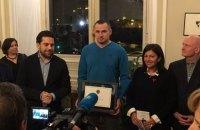Сенцов отримав звання почесного громадянина Парижа