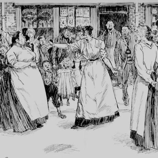 Филип Мэй. Уличная драка в Ист-Энде. 1901.
