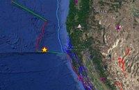 Біля берегів Каліфорнії сталися два землетруси поспіль