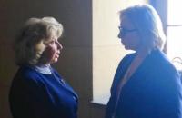 Денісова провела переговори з Москальковою в коридорі парламенту Греції