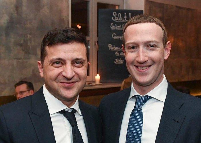 Владимир Зеленский и Марк Цукерберг во время Мюхненской конференции по безопасности