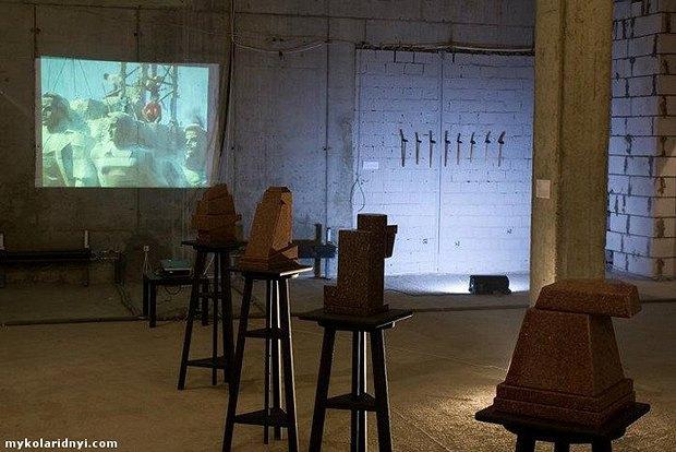 Работы Николая Ридного, представленные на биеннале