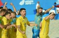 Сборная Украины по пляжному футболу обыграла Испанию на Европейских играх и досрочно вышла в полуфинал
