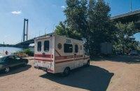 Подвыпивший парень прыгнул с Южного моста в Киеве и утонул