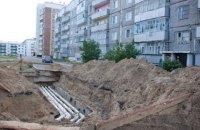 В Киеве из-за прорыва теплосети образовался гейзер высотой в несколько этажей