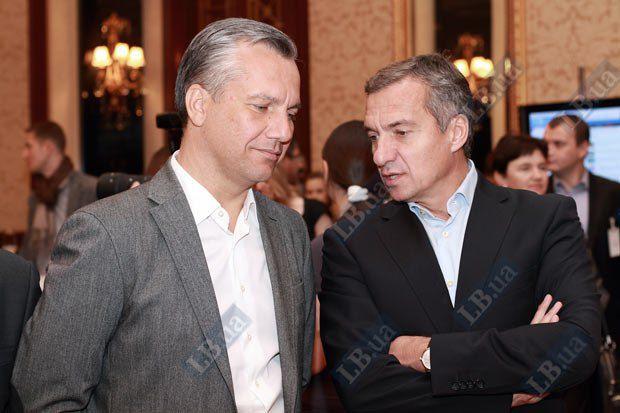 Александр Шлапак, экс-заместитель главы секретариата Президента(справа) и Олег Спилка - председатель наблюдательного совета НАСК Оранта