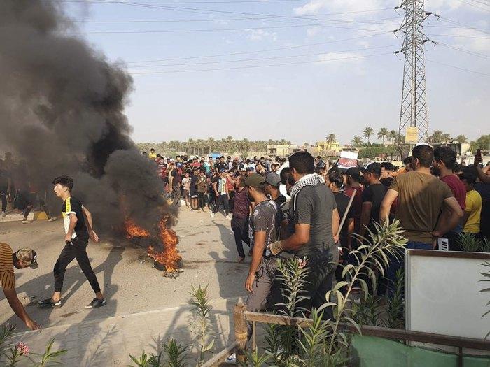 Протесты в восточном Багдаде, Ирак, 4 октября 2019.