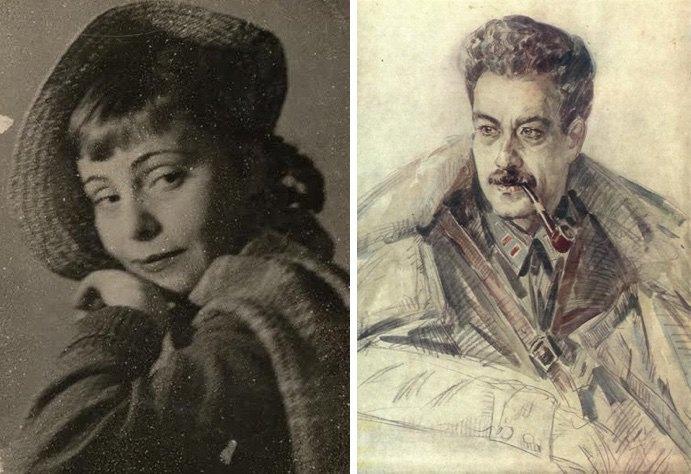 Лариса Троянкер и Леонид Первомайский