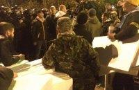 В палаточном городке остается около тысячи человек