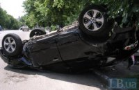 ДТП в Киеве: машины столкнулись на перекрестке