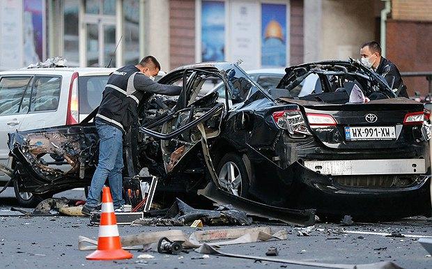 Автомобиль Тимура Махаури после взрыва, Киев, 8 сентября, 2017