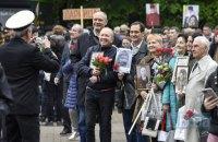 Поліція склала 13 адмінпротоколів за георгіївські стрічки на заходах 9 травня по всій Україні