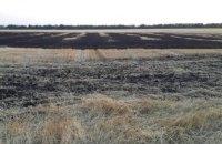 В Днепропетровской области сгорело поле пшеницы