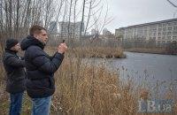 Київські активісти закликали створити парк навколо озера, що виникло на місці будівельного котловану