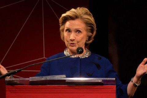 Клінтон пообіцяла сформувати кабінет наполовину з жінок