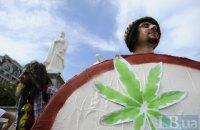 """""""Свободовцы"""" сорвали в центре Киева марш за легализацию марихуаны"""