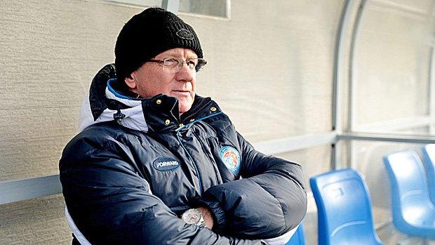 Валерий Петров на тренировке