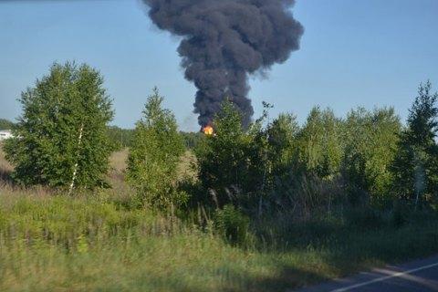 """На нефтебазе """"БРСМ"""" под Васильковом произошел новый пожар"""