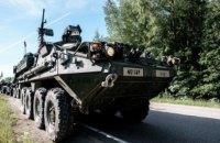 При столкновении бронетранспортеров в Литве пострадало около 10 американских военных