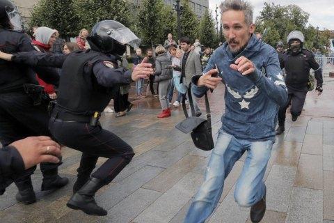 В Москве на акции за свободные выборы в гордуму начались задержания (обновлено)