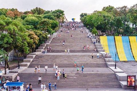 В Одессе закрыли Потемкинскую лестницу до апреля