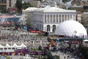 В киевской фан-зоне установили дополнительные урны