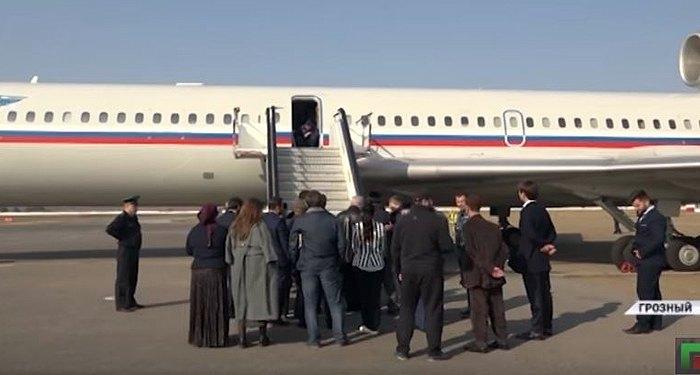 Тот самый военно-транспортном самолет, который доставил людей из Сирии в аэропорт Грозного