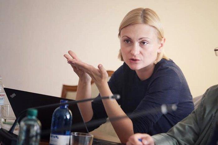 Євгенія Кравчук на засіданні комітету
