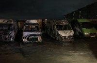У Харкові загорілося чотири автомобілі, постраждав чоловік