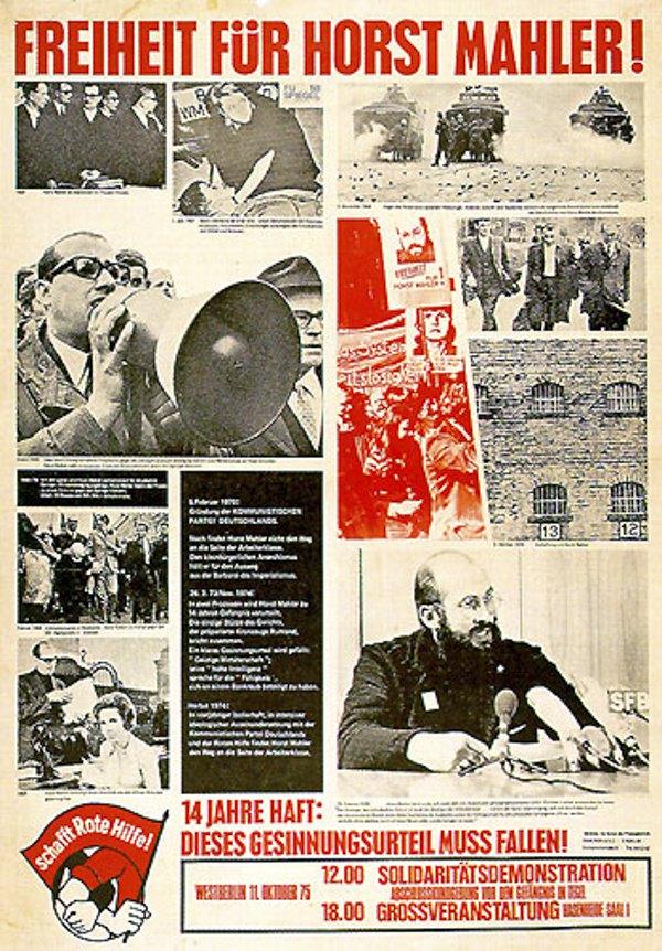 Листовка с требованием освобождения Хорста Малера