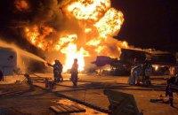 В Киеве горело девять автоцистерн с нефтепродуктами