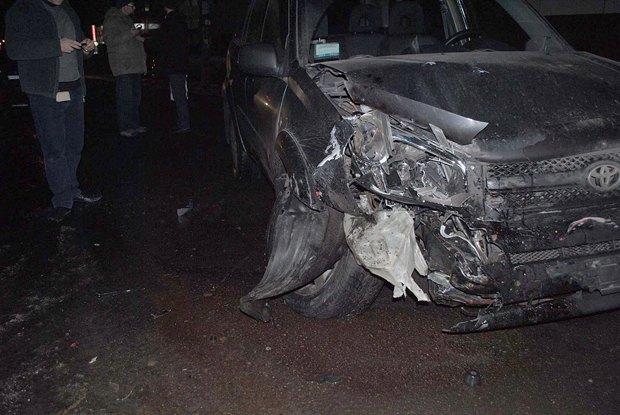 Разбитое авто Евгения Новикова