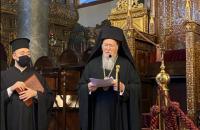 Вселенський патріарх та митрополит Епіфаній очолять літургію в Святій Софії у Києві