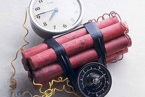 В Киеве нашли бомбу с часовым механизмом