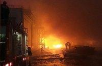 Пожар на маслоперерабатывающем заводе под Одессой потушили только утром