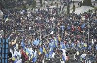 Полиция подсчитала число участников вече на Майдане