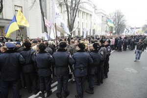 Милиция не пустила житомирских активистов на празднования в Киев
