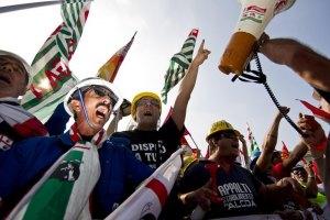 Італія: профспілки протестують проти скорочення держвидатків