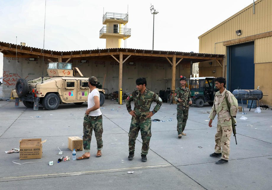 Солдати афганської армії на покинутій авіабазі Баграм, Афганістан, 5 липня 2021 р.