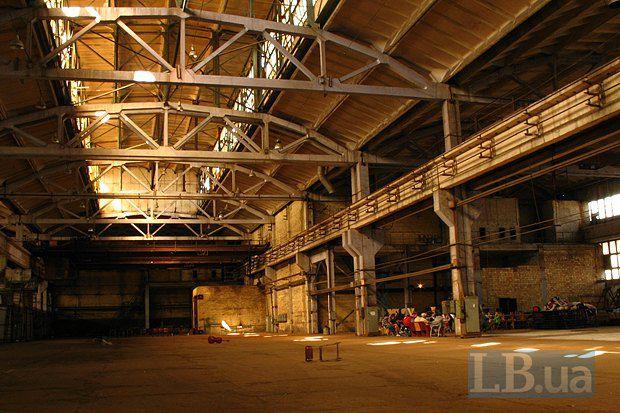 Часть завода, где будут проходить спектакли