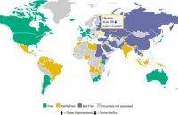 Украина ухудшила позиции в рейтинге свободы интернета
