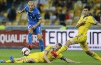 Сборная Украины опустилась на 24-е место в рейтинге ФИФА