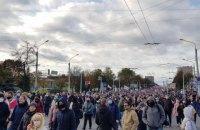 """У Мінську проходить """"Партизанський марш"""", силовики застосували гумові кулі (оновлено)"""