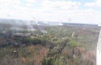 Пожар в Чернобыле локализовали на площади 1,5 га
