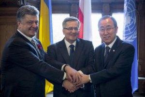 Порошенко закликав ООН направити миротворців на Донбас